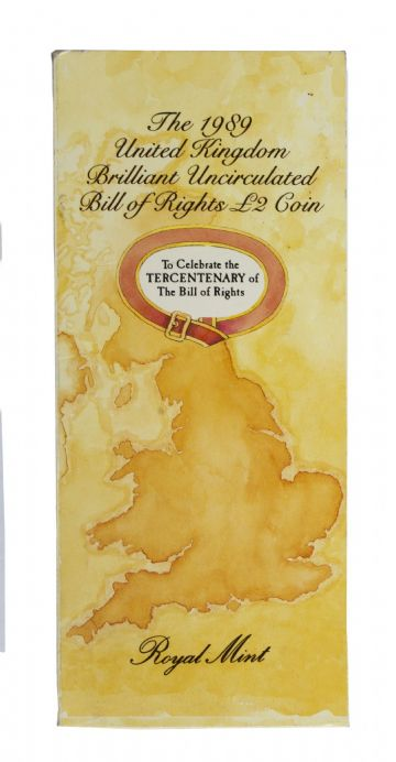 1989 Bill Of Rights £2 Brilliant Uncirculated pack